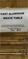 "Weave Cast Aluminum Table - 36"" Round -Qty 17"
