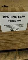 "Genuine Teak Table Top - 36"" Round -Qty 36"