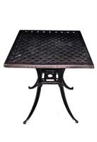 """Weave Cast Aluminum Table - 18"""" Square Qty 25"""