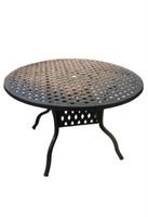 "Weave Cast Aluminum Table - 30"" Round -Qty 60"