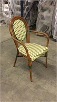 Parisienne Arm Chair - Ivory/Green -Qty 84