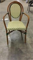 Parisienne Arm Chair - Ivory/Green -Qty 49