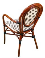 Parisienne Arm Chair - Ivory/Black -Qty 111