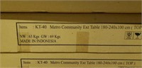 "Teak Community Table  39"" X 71"" -Qty  13"