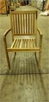 Genuine Teak Wood Reno Stacking Arm Chair -Qty 56