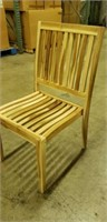 Genuine Teak Wood Reno Side Chair - Qty 8