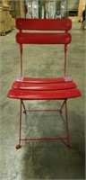 Jardin Folding Side Chair - Red -Qty 136