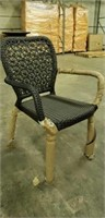 Jessie Arm Chair Expresso Star Weave Back -Qty 20