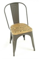 Manhattan Side Chair - Grey Wood Seat -Qty 76