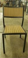 Elegance Side Chair - Alum & Teak -Qty 95