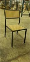 Elegance Side Chair Alum & Teak -Qty 82