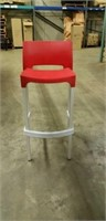 Domenica Barstool With Back - Red -Qty 24