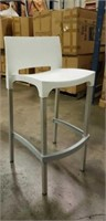 Domenica Barstool With Back - White -Qty 12