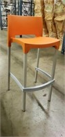 Domenica Barstool With Back - Orange -Qty 18
