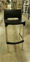 Domenica Barstool With Back - Black -Qty 17