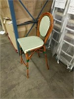 Parisienne Weave Bar Stool - Ivory/Green -Qty 39