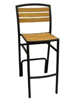Curacao Barstool With Arms - Black/Wood -Qty 37