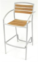 Curacao Barstool - Silver -Qty 24