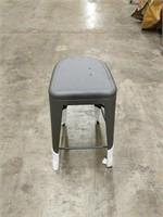 Manhattan Barstool With Back - Gunmetal -Qty 72