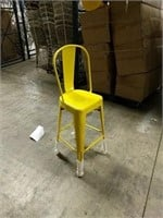 Manhattan Barstool With Back - Yellow -Qty 52