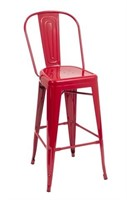 Manhattan Barstool With Back - Red -Qty 96