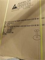 Futura Large Bar Umbrella Base,Column,Plate-Qty 13