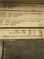 """Futura 20"""" Round Bases And Columns -Qty 200"""