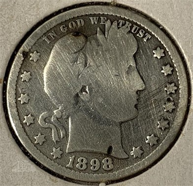 1898 Barber Quarter Dollar Other Items For Sale 1 Listings
