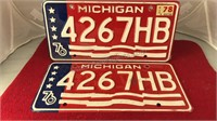 Matching Set of Michigan Bi-Centennial Auto
