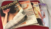 4 Vintage Penthouse Magazines 1978 1980 1982 and