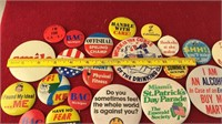 Collection of Vintage Metal Novelty Pins