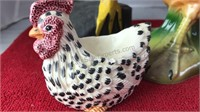Collection of Ceramic Wood and Other Chicken