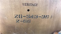 """Vintage Heritage Round Wooden Accent Table 21x23"""""""