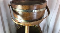 """Wooden Barrel Tripod Plant Stand 23x12"""" and 2"""