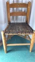 "Antique Child's Size Wooden Chair 22x14x12"""
