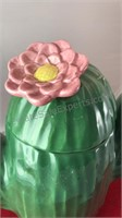 Vintage Treasure Craft Ceramic Cactus Cookie Jar