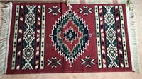 """3 Southwest Design Throw Rugs 39x23"""" 21x20"""" and"""