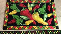 """2 Throw Rug Pepper Designs 55x22"""" and 44x27"""""""