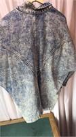 Vintage USA Denim Acid Wash  Decorated Jacket