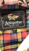 Vintage Alligator Wind Breaker Size 44M Zip Front