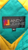 Vintage Andy Johns Hooded Jacket Size M Zip Front