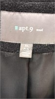 Apt 9 Wool Peacoat Size XL Button Front