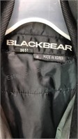 Black bear Winter Coat Zip and Button Front Size