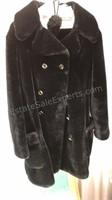 Vintage Faux Fur Winter Jacket With Hat Union