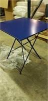 """Jardin 28"""" Square Folding Table - Blue -Qty 32"""