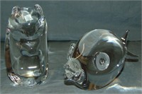 Steuben. Animal Figurines (2)
