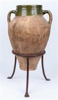 Vintage Decorative Pottery Floor Vase / Urn