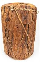 Vintage Wood Trunk Drum & Bow/Arrow Display