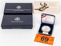 Coin 1997 Jackie Robinson Silver Proof Dollar