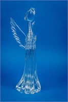 Large Signed Art Glass Angel